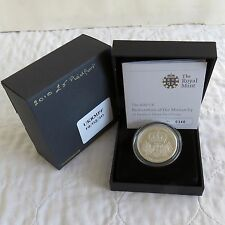 UK 2010 RESTORATION OF THE MONARCHY PIEDFORT £5 SILVER PROOF CROWN - complete