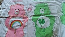 VINTAGE~1983~Care Bears~Cheer Bear~Goodl Luck Bear~PILLOW DOLL FABRIC PANEL