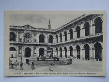 LORETO Piazza Basilica palazzo Apostolico Ancona vecchia cartolina