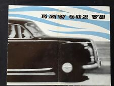 BMW 502 V8 Sales Brochure (in English)