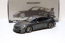 1:18 Minichamps Porsche 911 991 GT3 grey 2013 NEW bei PREMIUM-MODELCARS