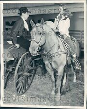 1947 King & Queen of The West University of Tulsa OK w Palomino Press Photo