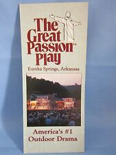 """ THE GREAT PASSION PLAY ""  VINTAGE BROCHURE 1980's  EUREKA SPRINGS, ARKANSAS"