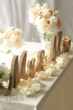 Mr and Mrs Letters Wooden Sign Wedding Gift Table Centerpiece Decor