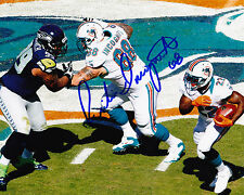RICHIE INCOGNITO  MIAMI DOLPHINS    ACTION SIGNED 8x10