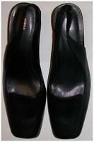 Brand New Womens M&S Black Leather Shoes Size 6 (39 1/2)
