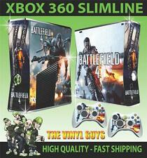 XBOX 360 SLIM BATTLEFIELD 4 001 STICKER SKIN COVER & 2 PAD SKINS