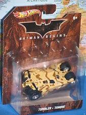 HOT WHEELS BATMAN BEGINS TUMBLER TANQUE X4038 **BRAND NEW & RARE**
