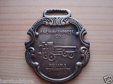 RAILWAY EXPRESS RELIABLE FORWARDER Watch Fob Silver Antique Patina