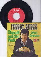 """Freddy Breck, Überall auf der Welt, VG+/VG+ 7"""" Single 0954-1"""