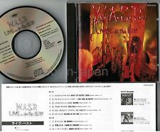 W.A.S.P. ‎Live... in the Raw JAPAN CD CP32-5518-U 1A1 TO w/INSERT+PS Free S&H