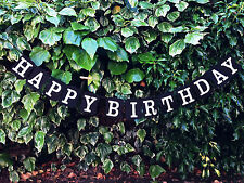 Happy Birthday Party Black Garland Design Birthday Party Bunting Banners