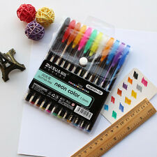 12x Color Gel Pen Glitter Scrapbooking Ink Pens Adult Drawing Painting Craft Art