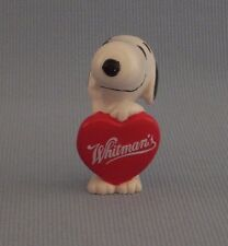 "Snoopy Whitman's Chocolate Heart PVC Figure Peanuts Gang 2.5"" Tall Valentine"