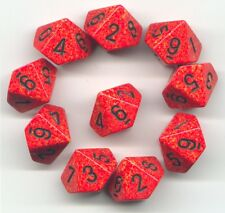 NEW RPG Dice Set of 10D10 - Speckled Fire