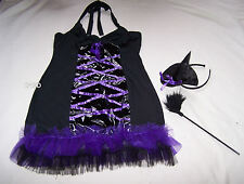 Hanky Panky Ladies Sexy Black Purple Witch Dress Up Costume Outfit Size M New
