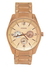 NEW FOSSIL ROSE GOLD TONE STAINLESS STEEL,CRYSTALS,MULTIFUNCTION,WATCH BQ1073