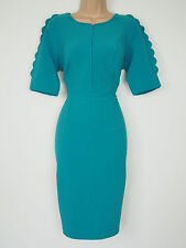 BNWT Rochelle HumesTurquoise Wiggle Pencil Dress Size 12 Stretch RRP £74