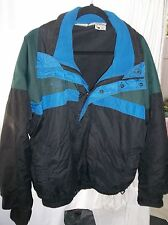 Columbia Men's Size Large Lined Black, Blue and Green Sport Jacket NICE!