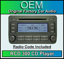VW dell' interruttore differenziale 300 CD Player GOLF MK5 STEREO AUTO testa dell' unità forniti con codice RADIO