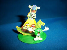 M&M's Swinging Boat/Basket GREEN Figurine CARNIVAL FAIR RIDE Pocket Surprise M&M