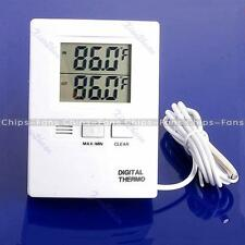 New White LCD Digital Indoor And Outdoor Thermometer Temperature Meter