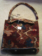 POST CIVIL WAR Reconstruction Era / CARPET BAGGER BAG w Orig KEY /