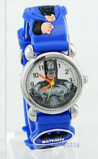 Batman Kinder Armbanduhr Jungen Uhr Boys Watch Blau Kids 3D Silikon Jelly Gummi