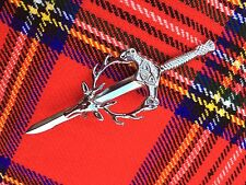 "Scottish Kilt Pins Stag Head 4"" Chrome Finish/Celtic Sword Kilt Pin/kilt Pins"