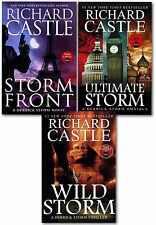 Richard Castle 3 Books Set Collection Bestseller NEW Wild Storm,Storm Front