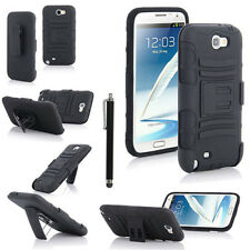 Rugged Armor Hybrid Impact Holster Case Cover for Samsung Galaxy Note II 2 N7100