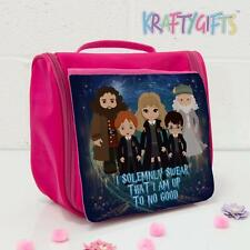 Harry Potter Witch Wizard Magic Pink Hanging Wash Bag Girls Travel Make Up ET05
