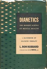 Dianetics L Ron Hubbard Scientology Vintage 1950 First Edition 5th Printing HC !