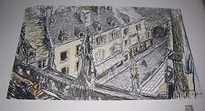 1911 UNE RUE DE VALOGNE by George Dupuis Color Print From Chalk Drawing