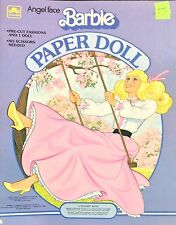 Angel Face Barbie Paper Doll Book, Whitman 1983, Uncut Mattel Doll