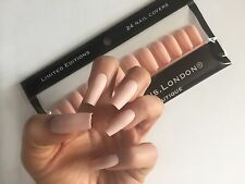 Long Matte Nude Peach Coffin Ballerina Nails 48 Pieces Per Set
