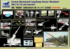 "Bronco 1/35 35048 German Rheinmetall Long-Range Rocket""Rheinbote"" w/Launcher"