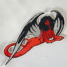 DEVIL WOMEN WINGS EMBROIDERED PATCH P182 iron on sew biker JACKET patches NEW