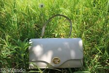 Vintage HERMES Bone White Leather Kelly Hand Bag France