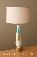 MID CENTURY MODERN ABSTRACT TABLE LAMP! Eames 50's Vtg Bitossi Laurel 60s Atomic