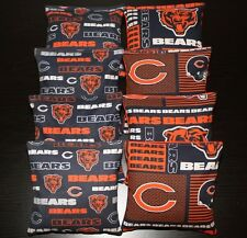 CHICAGO BEARS Cornhole Bean Bags All Weather Plastic Resin Filled WATERPROOF!