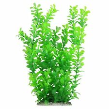 Aquarium Decor Fish Tank Decoration Ornament Plastic Plant Green 10-inch Tall