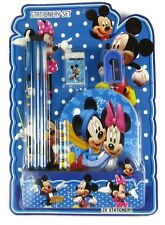7Pcs Mickey Mouse Note Pad Stationary Set Back To School Pencil Kit Minnie Gift