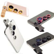 New 3 in1 Fish Eye+Wide Angle+Macro Camera Clip-on Lens for iPhone 6/Plus/5S/5