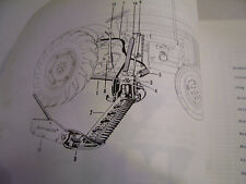 VINTAGE MASSEY FERGUSON  PARTS MANUAL - MF  # 135 SIDE MOUNT MOWER - 1961