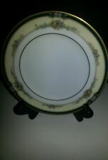 NWT NORITAKE BONE CHINA DARNELL  SET OF 4  BREAD AND BUTTER PLATES GOLD RIM