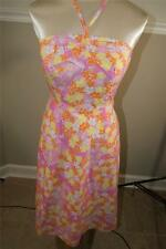 LILLY PULITZER WOMENS MULTI-COLOR floral  KNEE LENGTH DRESS SIZE 0  (DR1000)