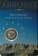 (A2a3) ANDORRA | ANDORRE 2 EURO EUROPARAT GEDENKMÜNZE 2014 BU | ST AUSGABE 2016