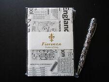"""Fiorenza """"Newsprint"""" A6 hardcover plain writing journal"""