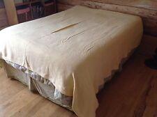 Ralph Lauren Blanket Cotton RLL Solid Butter Yellow Queen Made USA Grand Format